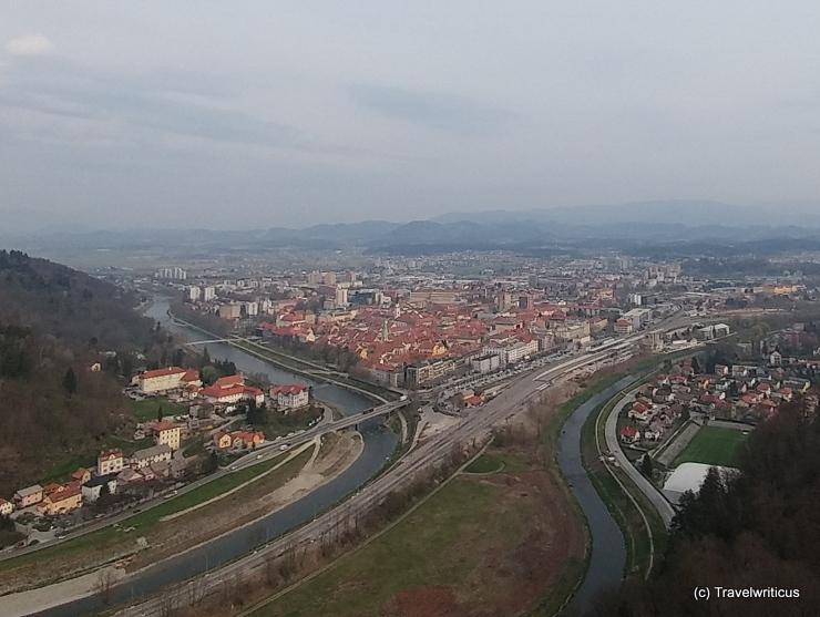 Blick von der Burg auf Celje