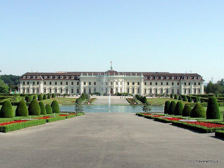 Blick vom Schlosspark auf Schloss Ludwigsburg