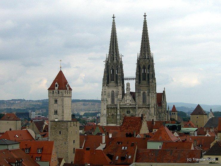 Dachlandschaft in Regensburg, Deutschland