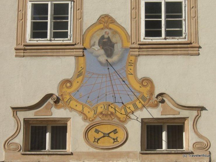 Sonnenuhr in der Erzabtei St. Peter in Salzburg