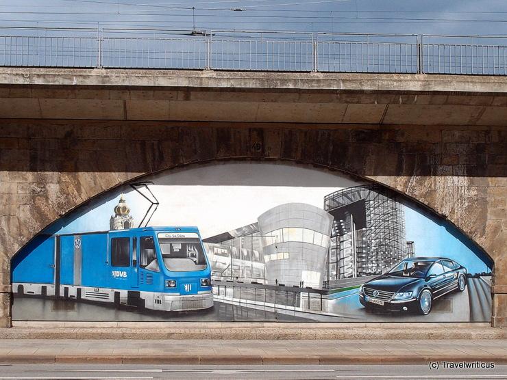 Wandbild einer CarGoTram in Dresden