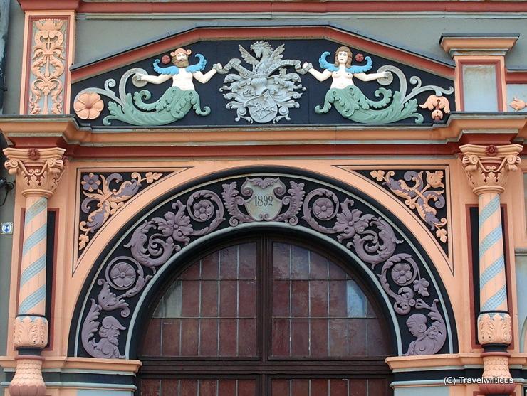 Detail am Cranachhaus in Weimar, Deutschland