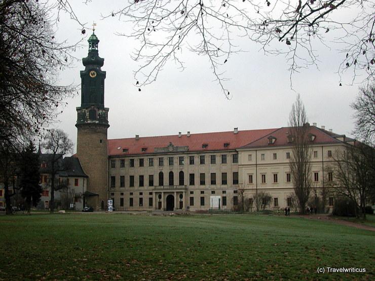 Blick vom Ilmpark auf das Weimarer Stadtschloss