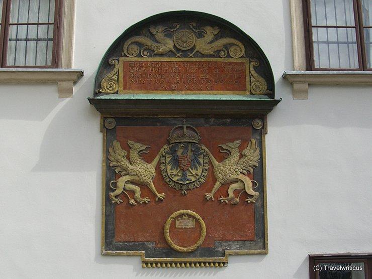 Wappertafel im inneren Burghof der Wiener Hofburg