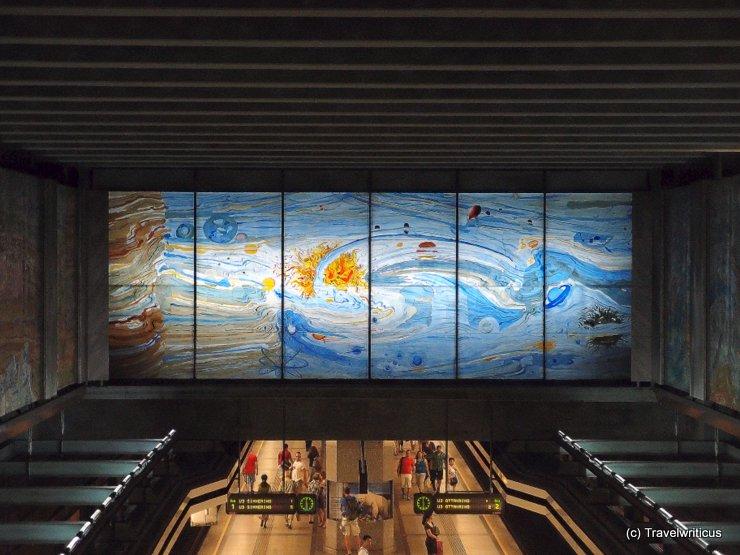 Mosaik in der U-Bahnstation Volkstheater